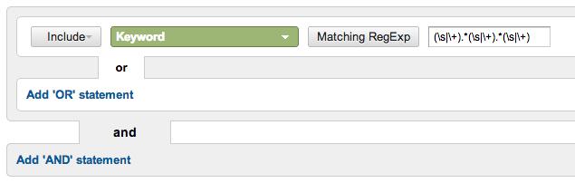 Google Analytics Long-Tail Advanced Segment