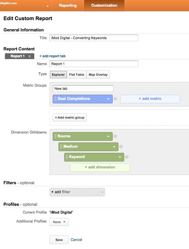 Google Custom Report