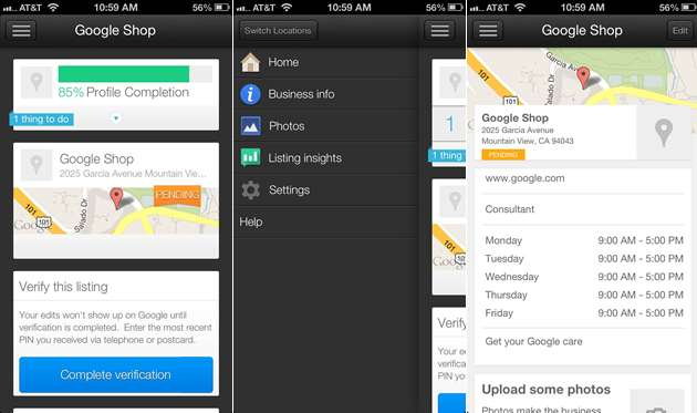 Google Places for Business iPhone Application