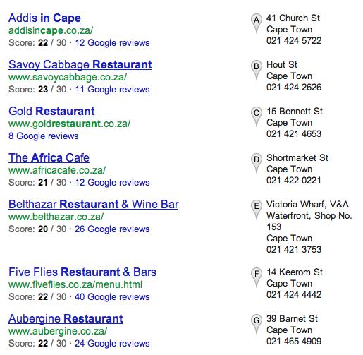 Google+ Listings