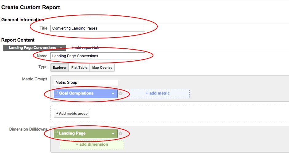 Landing Page Conversion Report