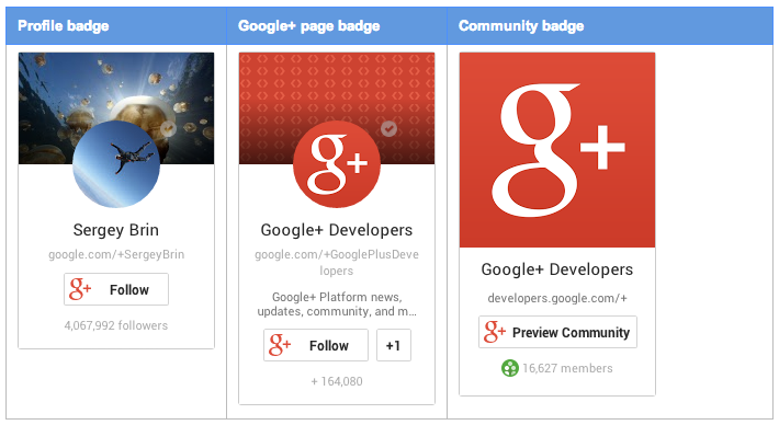 Google Plus Badges