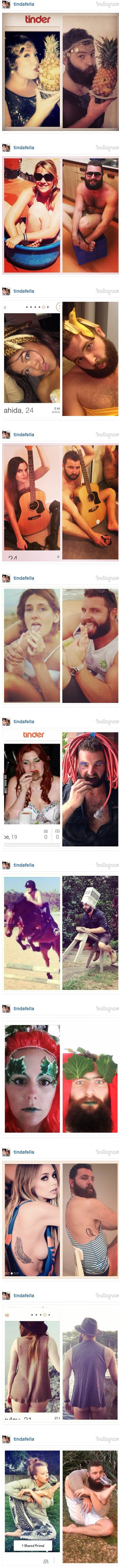 guy imitates womens tinder profiles