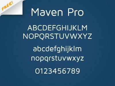 Maven Pro Free Font
