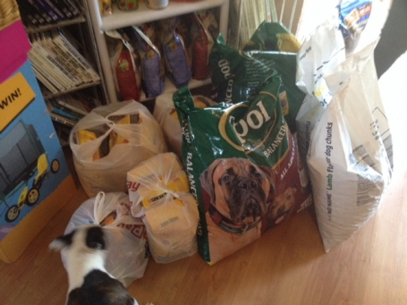 Our food donation to Megs Mutts