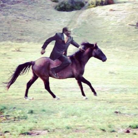 MugabeFalls Horse riding Meme