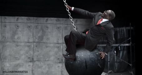 #MugabeFalls wrecking ball