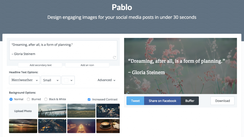 Pablo Creating Engaging Images