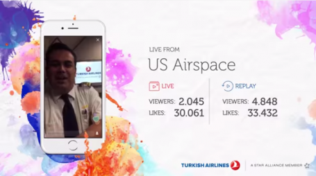 Turkish Airlines live flight broadcast
