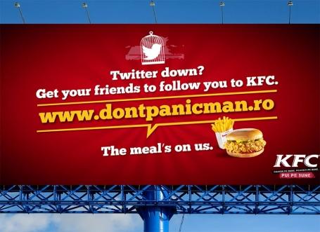 KFC Don't panic man campaign