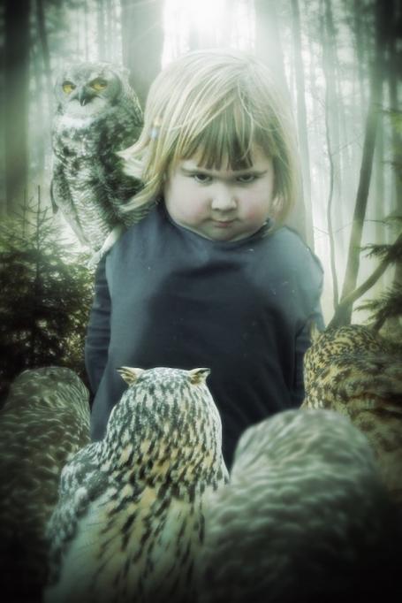 dark lord of owls evil little girl