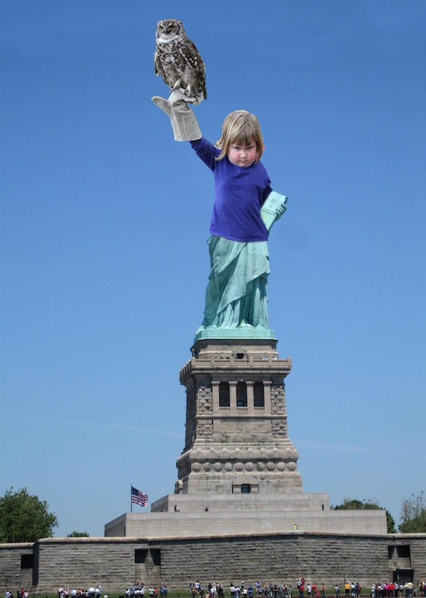 liberty owl evil little girl photoshopped
