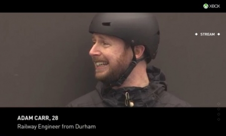 Adam Carr's winning moment on the survival billboard