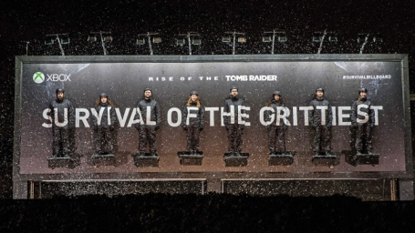 Survival Billboard - Xbox Tomb Raider Launch promotion