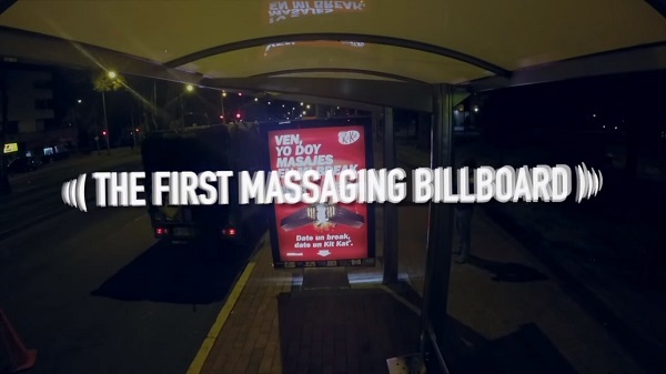 The First Massaging Billboard By KitKat