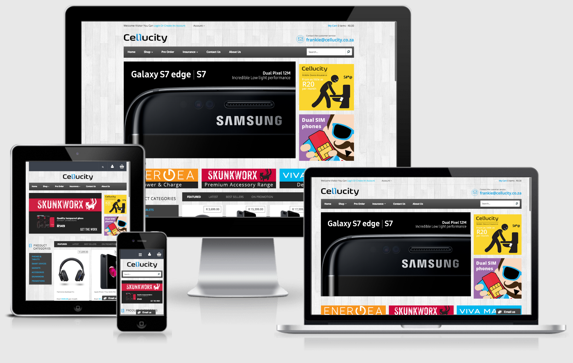 Cellucity Responsive