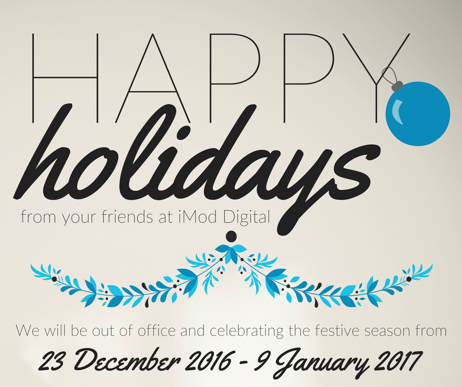 Happy Holidays from iMod Digital!