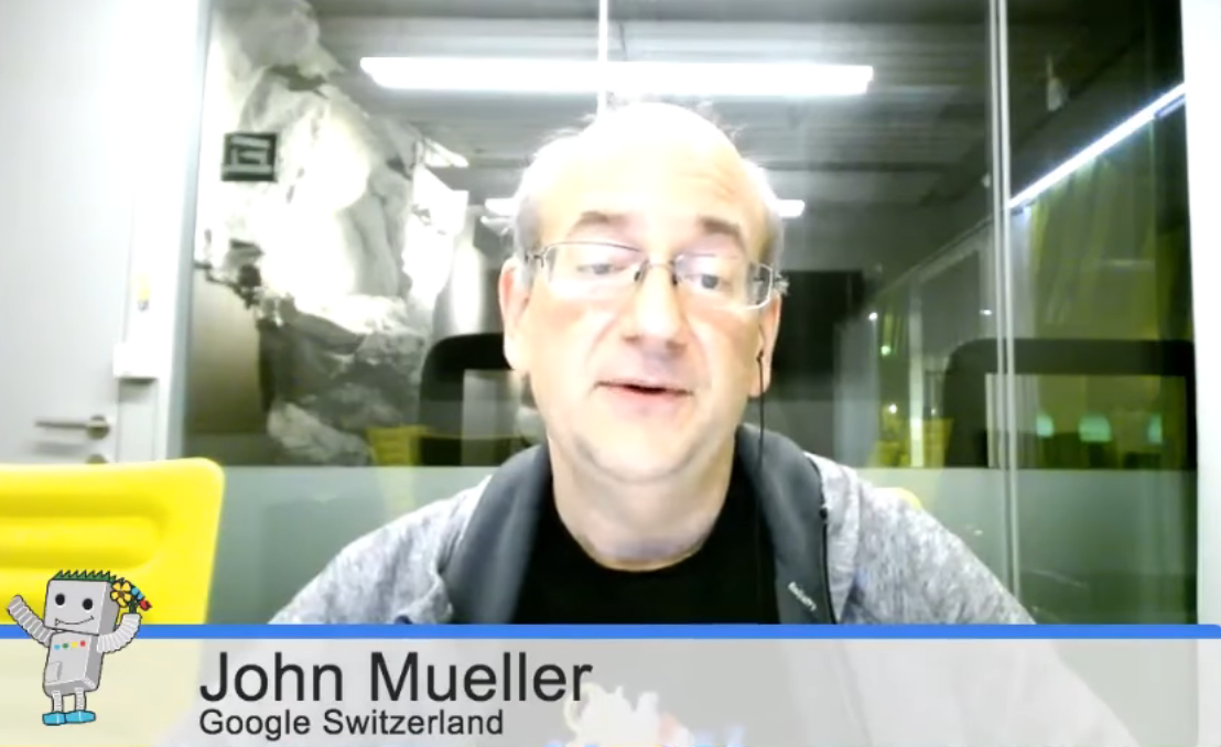 John Mueller on YouTube