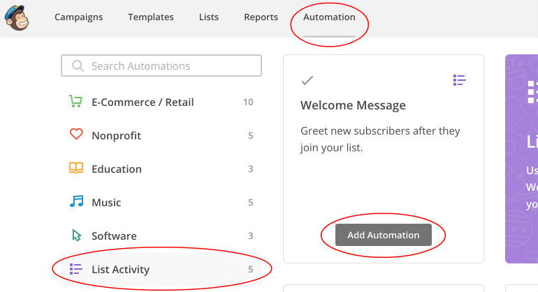 Mail Chimp: Add Automation