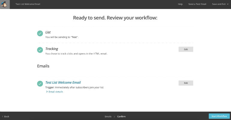MailChimp: Start Workflow